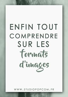 Enfin tout comprendre sur les formats d'images ! Studio Pop Com – Expolore the best and the special ideas about Inbound marketing Web Business, Business Marketing, Le Web, Inbound Marketing, Personal Branding, Photo Manipulation, Big Data, Pop, Internet