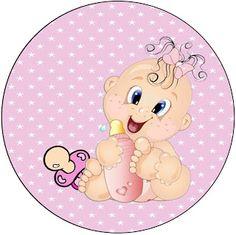 AQUARELINHA: Kit Chá de Bebê Rosa