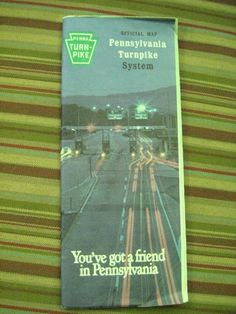 1985 Pennsylvania Turnpike System Official Map Pennsylvania Turnpike Commission   | eBay