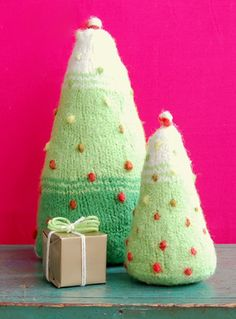 Felted ChristmasTrees