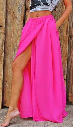Need this bright, high-slit maxi