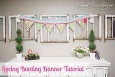 Spring Bunting Banner Tutorial