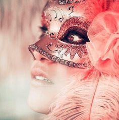 Pink Masquerade/Carnival Mask. Fantasy Photography.
