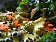 Curried Caper Tahini Dressing: This dressing gives start treatment to the tiny caper, which is full of anti-inflammatory antioxidants.