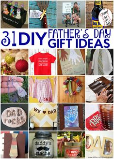 Fathers day is right around the corner. I thought today I would share with you 31 Father's Day Gift Ideas! I had a great time finding these and you will love creating them! Handmade Gifts For Boyfriend, Diy Gifts For Men, Birthday Gifts For Boyfriend, Gifts For Father, Kids Gifts, Diy For Teens, Crafts For Teens, Fathersday Crafts, Dad Crafts