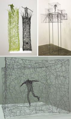 The gesture-filled wire sculptures of Barbara Licha Line Sculpture, Sculpture Metal, Sensory Art, Conceptual Drawing, Diy 3d, A Level Art, Elements Of Design, Wire Art, Art Portfolio