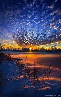nuages et coucher de soleil