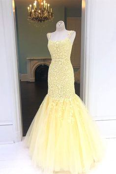 elegant yellow prom dresses, mermaid lace prom gowns, modest evening party gowns - elegant yellow prom dresses, mermaid lace prom gowns, modest evening party gowns Source by - Lace Prom Gown, Mermaid Prom Dresses Lace, Cute Prom Dresses, Prom Dresses For Teens, Formal Dresses, Prom Gowns, Tulle Lace, Bridal Gowns, Short Dresses