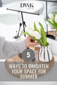 5 Ways to Brighten Up Your Space for Summer - DWK Interiors Purple Hand Towels, Floor Standing Mirror, Yellow Throw Pillows, Purple Hands, Natural Interior, Bright Homes, Workspace Inspiration, Interior Styling, Interior Design