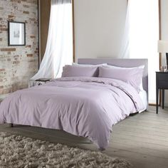 Carla Pink Embroidered 100% Cotton Duvet and Pillowcase Set