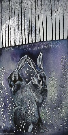 Beautiful hare illustration by Sam Cannon Art And Illustration, Hase Tattoos, Sam Cannon, Lapin Art, Rabbit Art, Bunny Art, Amazing Art, Fantasy Art, Cool Art