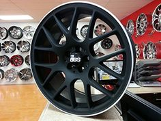 2x alloy wheels bbs ch style 18x9.0 matt black silver lip greggson