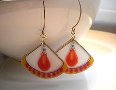 Pink and Gold Bollywood Earrings. via Etsy.