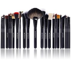 Our team of professional makeup artists has designed a professional brush set like no other. Made with a premium blend of Premium Sable,Goat badger hair, Pony hair and microfiber bristles, these brushes are soft, resilient and long-lasting.