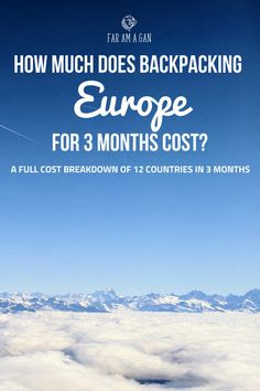 We put off #travelling for so long because we felt we couldn't afford it, now 3 months and 12 countries later, #backpacking #Europe cost less than we imagined. *Includes a free downloadable budget tracker*
