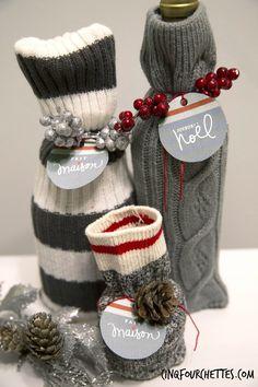 Cinq Fourchettes etc.: Un DIY d'emballage style bas de laine : un hit assuré avec le Bar à idées!