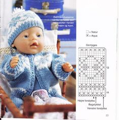 knitting books: knitting fashion for dolls Knitted Doll Patterns, Knitting Paterns, Knitting Books, Knitted Dolls, Baby Knitting, Baby Born Clothes, Bitty Baby Clothes, Teddy Bear Clothes, Child Doll