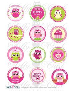 owl cupcakes toppers - Buscar con Google