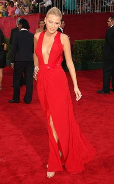Red Dress   Blake Lively 2009 Emmys   Best Dressed #BestDressed