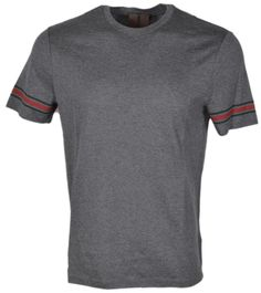 Gucci New Men's 353896 Cotton Red Green Web Stripe Xxl T Shirt Grey. Free shipping and guaranteed authenticity on Gucci New Men's 353896 Cotton Red Green Web Stripe Xxl T Shirt GreyNew with Tags  Style 353896  $280 MSRP  Grey Jerse...