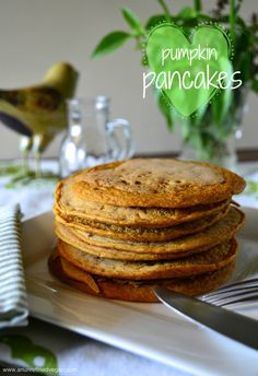 Vegan, oil-free Pumpkin Pancakes from The China Study Cookbook. Photo by An Unrefined Vegan.