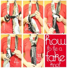 how to tie a fake knot