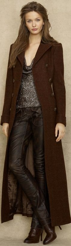 Ralph Lauren's Western-inspired style e$ by Janny Dangerous - a coat that may actually be long enough!
