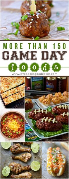 Enjoy the Big Game with an assortment of delicious eats from your favorite bloggers! There are more than 150 game day foods to keep you fueled until the end!