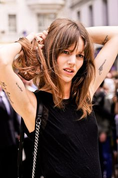 Freja Beha. Love the hair! Sweet Tattoos, Top Tattoos, Girl Tattoos, World Tattoo, Nice Tops, Kia Motors, Annie Clark, Picture Tattoos, Motor Company