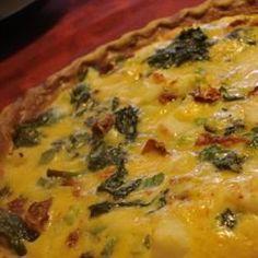 Surimi, Spinach, and Roasted Red Pepper Quiche - Allrecipes.com