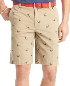Izod Marlin Flat-Front Schiffli Shorts