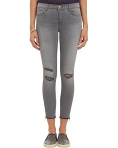 "J Brand ""Photo-Ready"" Cropped Skinny Jeans are our ideal denim for fall 2014. #divinecaroline #jeans #style"