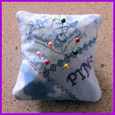In-the-hoop Pin Cushion - 10 RW Sewing designs.  Free download includes sewing instructions (pdf) AND the embroidery design.