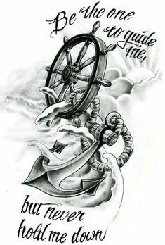 Rudder christiano anchor tattoos, wheel tattoo и anchor tatt Trendy Tattoos, Tattoos For Guys, Tattoos For Women, Cool Tattoos, Tatoos, Anchor Tattoos For Men, Tattoo Drawings, Body Art Tattoos, Sleeve Tattoos