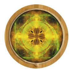 Fractal Art 2 Round Cheese Board