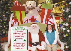 A Special Hug with Santa. Un Abrazo Especial con Santa.  Happy holidays! ¡Felices fiestas!