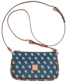 Dooney   Bourke Gretta Signature Lexi Crossbody - Crossbody   Messenger Bags  - Handbags   Accessories - Macy s 924b6f5c91745
