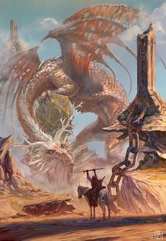 ArtStation - The Guardian of Fate, Saad Irfan Dungeons And Dragons, Dnd Dragons, Fantasy Dragon, Fantasy Art, Legendary Dragons, Fantasy Beasts, Dnd Art, Dragon Artwork, Monster Art