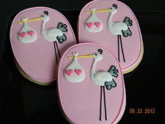 Twin Girl Baby Shower by Nightowl Cookies, via Flickr