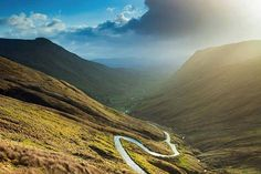 The Glengesh Pass on the way into the town from Carrick and Glencolmcille..Part of The Wild Atlantic Way..