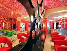 Salon design - I don't know if I could relax in here...but it's definitely cool