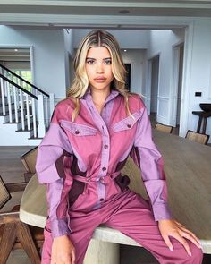 Sofia Richie is dressed in an Isabel Marant pink jumpsuit. Sofia Richie is dressed in an Isabel Mara Sofia Richie, Pink Jumpsuit, Cotton Jumpsuit, Celebrity Style Guide, Casual Outfits, Fashion Outfits, Style Fashion, Fashion Beauty, Outfit Look