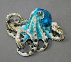 "FANTASTIC BRONZE OCTOPUS ""Tammy"" Figurine Statue Sculpture Aquatic Art / Limited Edition By Barry Stein"