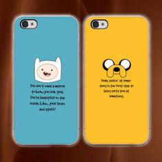 ADVENTURE TIME IPHONE 5c 5/5s 6/6s 6/6s PLUS CASES THIS IS FOR TWO CASES. THEIR A PAIR. This a iPhone 5c /5s /6/6plus phone case. It is made of durable hard plastic.Easy snap-on design for a lightweight feel and great phone protection.  PLEASE SPECIFY SIZE OF CASE, DEFAULT IS IPHONE 6.  
