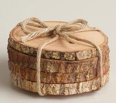 Rustic Tree Bark Coasters Wood Blank Wood by SomethingInTheBox