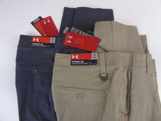 Pants 57989  Under Armour Ua Straight Leg Loose Fit Performance Stretch  Chino Pants Nwt  80 746591641a7