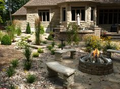 fire-pit landscaping
