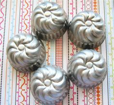 Making Jello or Storing Treasures - Vintage Swirly Jello Tins. $4.00, via Etsy.
