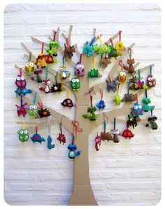 doopsuiker boom met diertjes