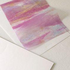 刷毛目白&薄様・柳しぼり染 便箋セット 20枚+5枚入 ピンク - WACCA ONLINESHOP